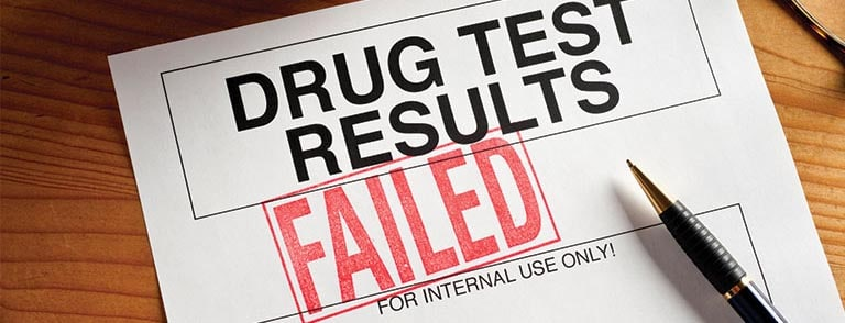 Drug testing results