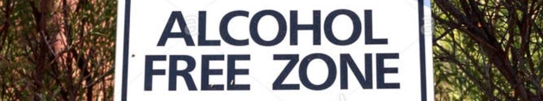alcohol free zone