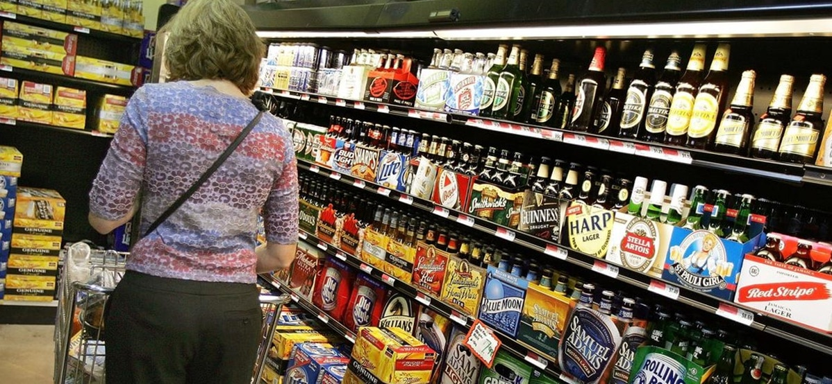Supermakets Alcohol Aisle