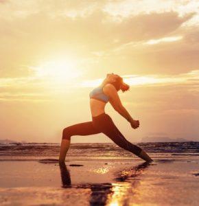 yoga warrior posture