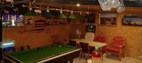 Inside of an illegal drinking den in Ireland