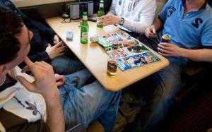 booze on train